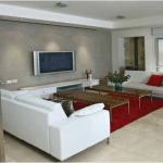עיצוב קיר בסלון באמצעות לוחות גבס