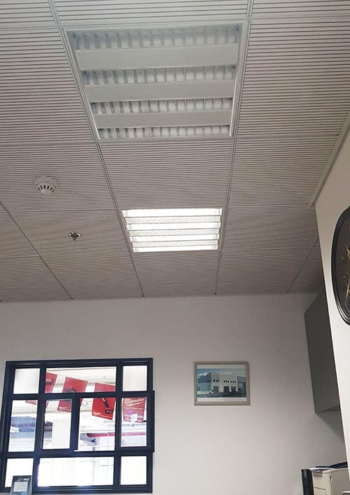 תקרות אקוסטיות עץ במשרד